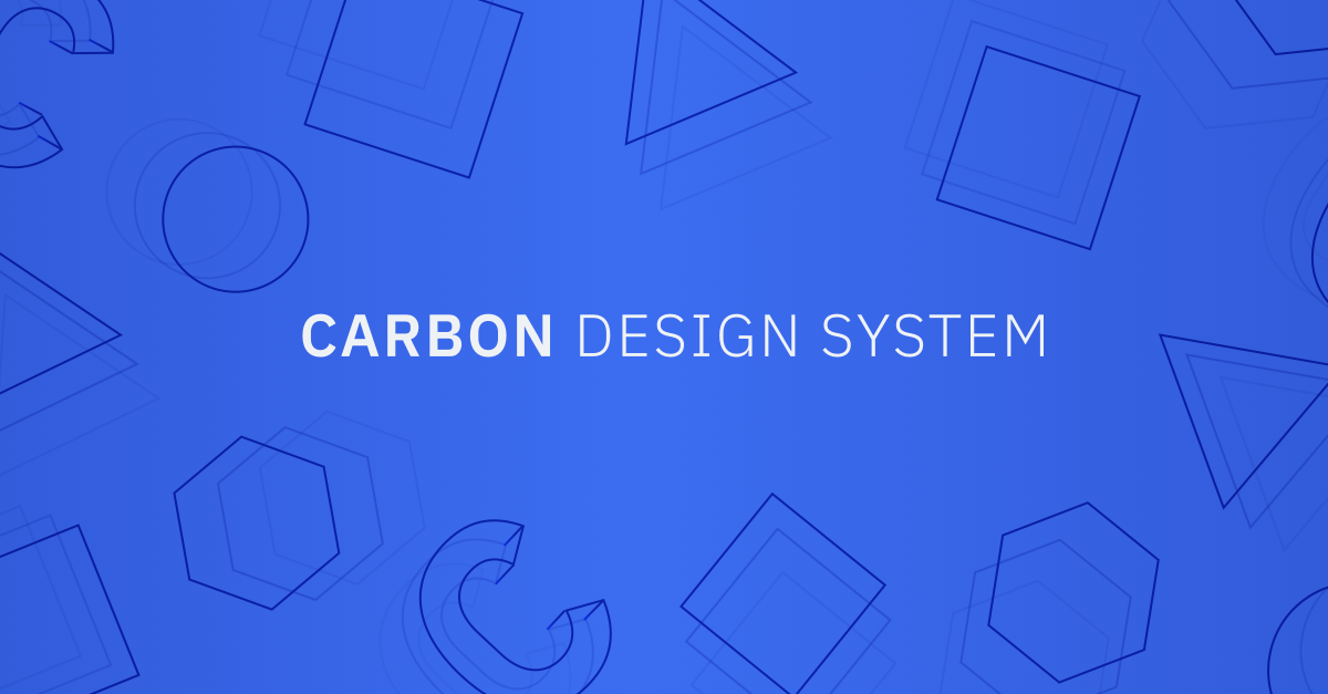 Carbon Design System by IBM
